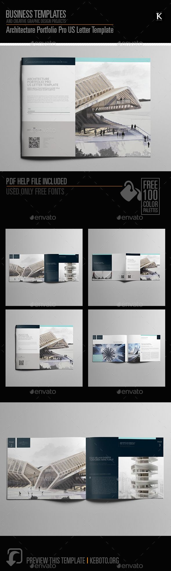 Architecture Portfolio Pro US Letter Template Indesign Us O Download Here