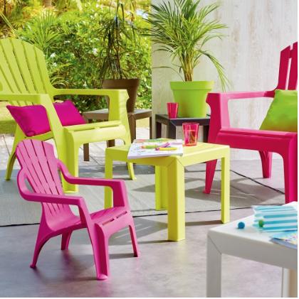 fauteuil de jardin plastique gris
