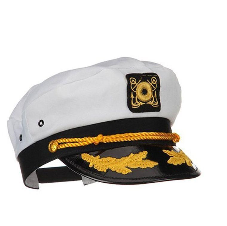 e6eb2d5616f66 Captains Hat Cap BOAT SHIP Admiral Sailor Hat Sailor Novelty Costume NEW   Jhat  YachtCap