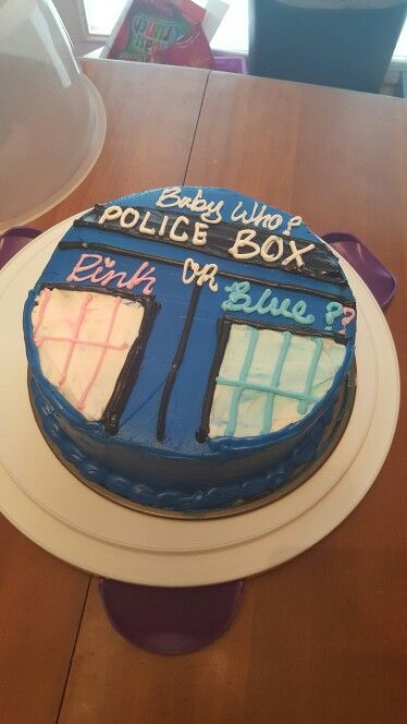 Doctor Who Gender Reveal Cake Cake Ideas Doctor Who