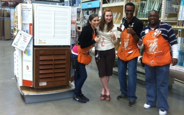 Rockwood Shutters Design Consultant With Home Depot Associates At Store  #541 In Arlington, TX Give A Thumbs Up After Reviewing Rockwood Shutters  Products ...