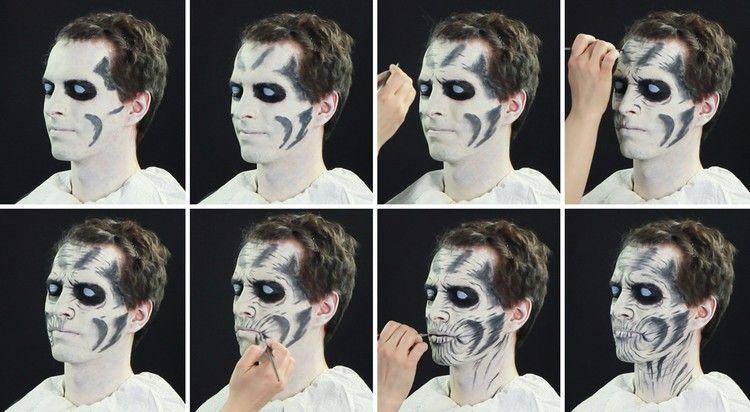 Make Up Anleitung Für Einen White Walker Zu Halloween Für Anne