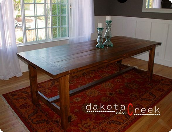 Build Your Own Farmhouse Dining Table Instructions On How To Finish It Too