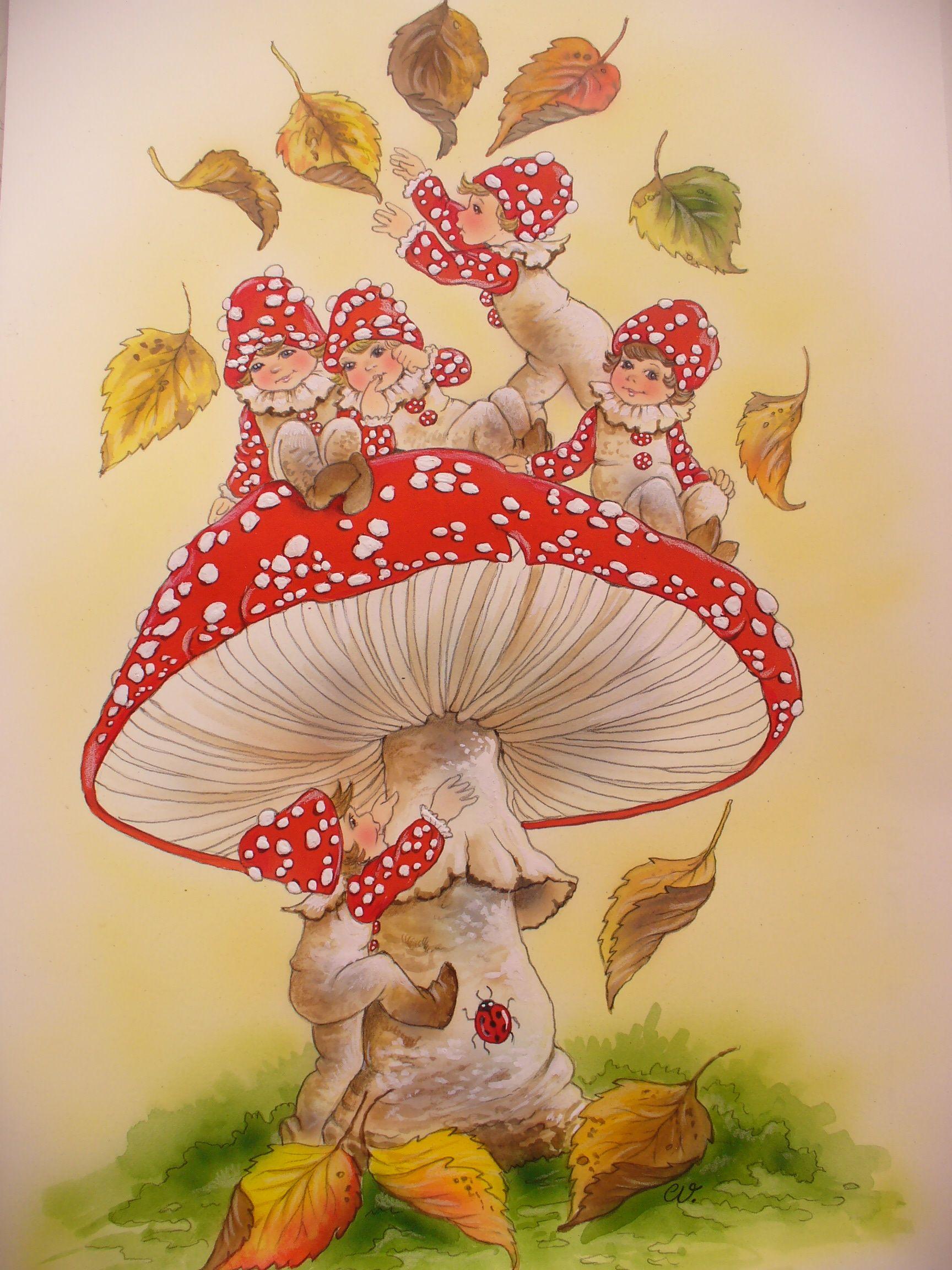 Die Fliegenpilzkinder Von Christl Vogl With Images Whimsical