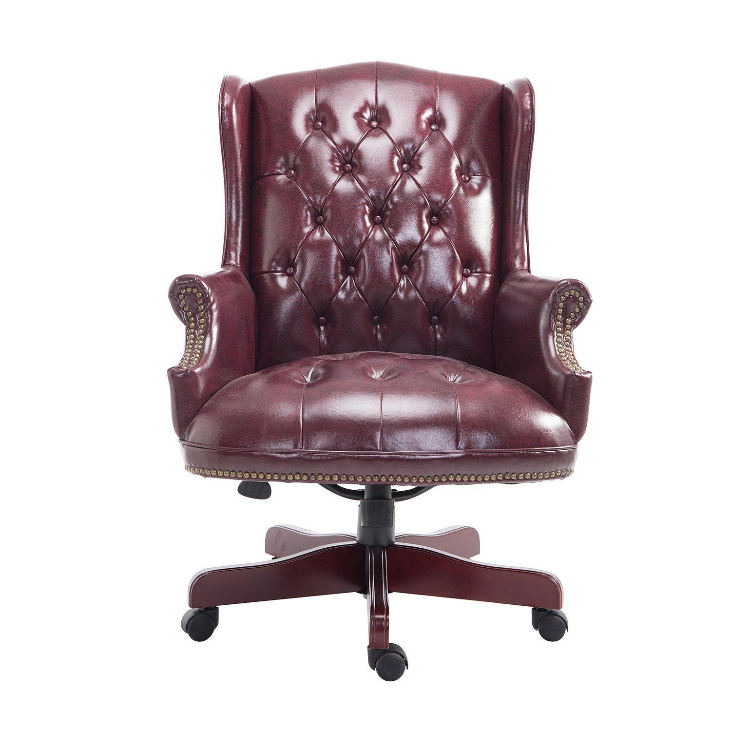 Chesterfield office chair - Homcom Luxury Rolling Executive Managers Directors Chesterfield Antique High Back Office Chair Pu Leather Padded Swivel