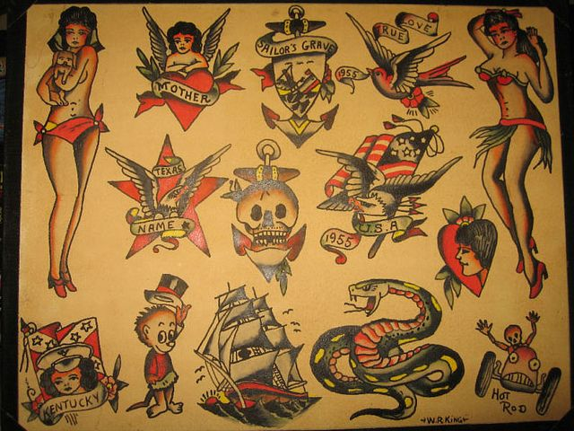 W R King Vintage Flash Vintage Flash Tattoo Flash Art Camera