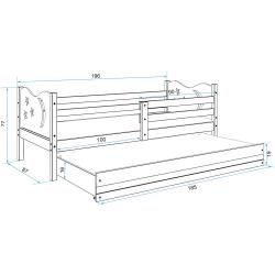 Photo of Stylefy Ola with extra bed functional bed 90×200 cm white graphite
