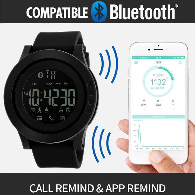 Ozellikler Skmei 1255 Skmei 1255 Bluetooth Skmei 1255 Akilli Saat 1255 Fonksiyonlar Bluetooth Cagri Hatirlatmak Kamera Kontrol Kal Bluetooth App Led