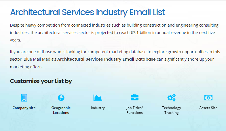 Architectural Services Email List Architectural Industry Mailing