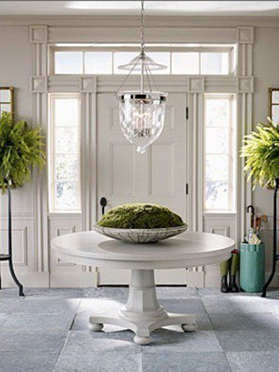 Pin By Steva Brown On Home Decor Organization And Tiny Spaces Round Entry Table Round Foyer Table Entry Table Decor