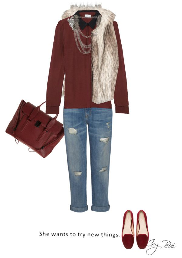 """Burgundy style"" by ivybui on Polyvore"