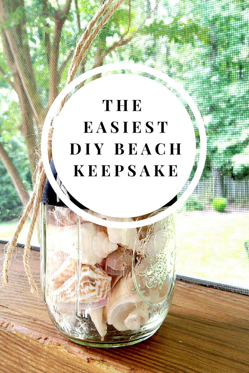 The Easiest DIY Beach Keepsake   Beach keepsakes, Chalkboard paint ...