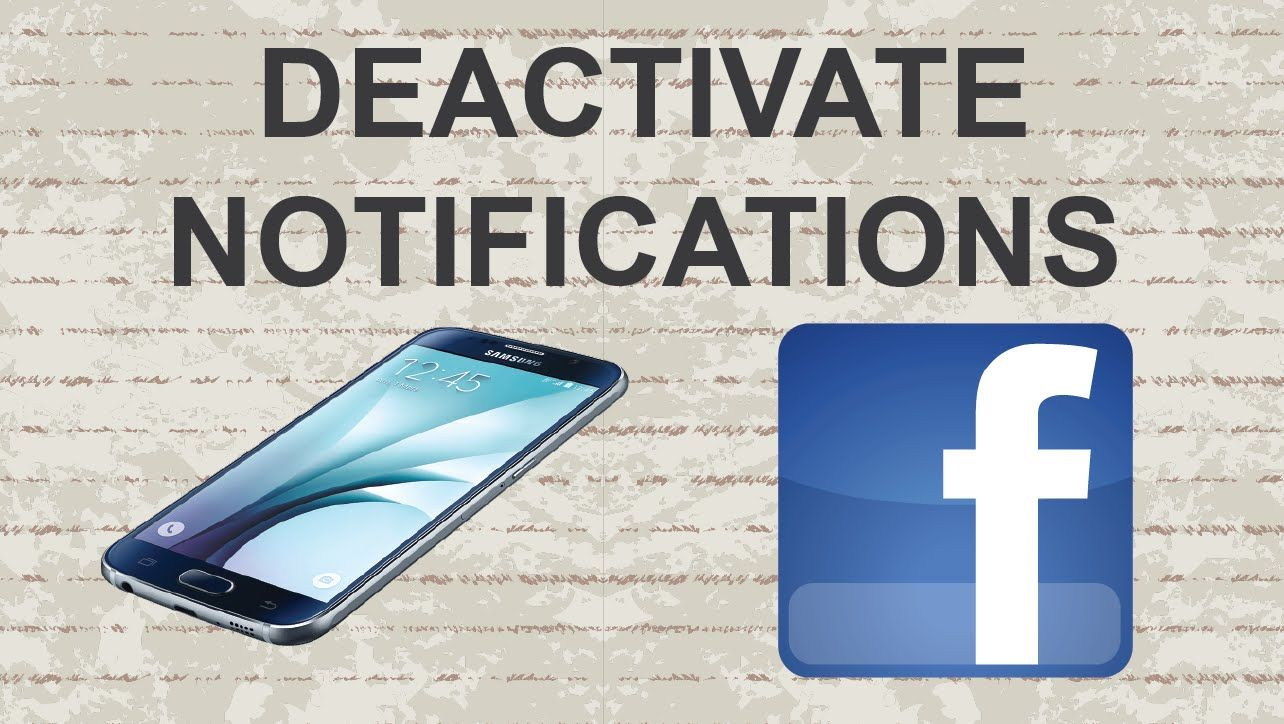 How to deactivate Facebook mobile notifications facebook