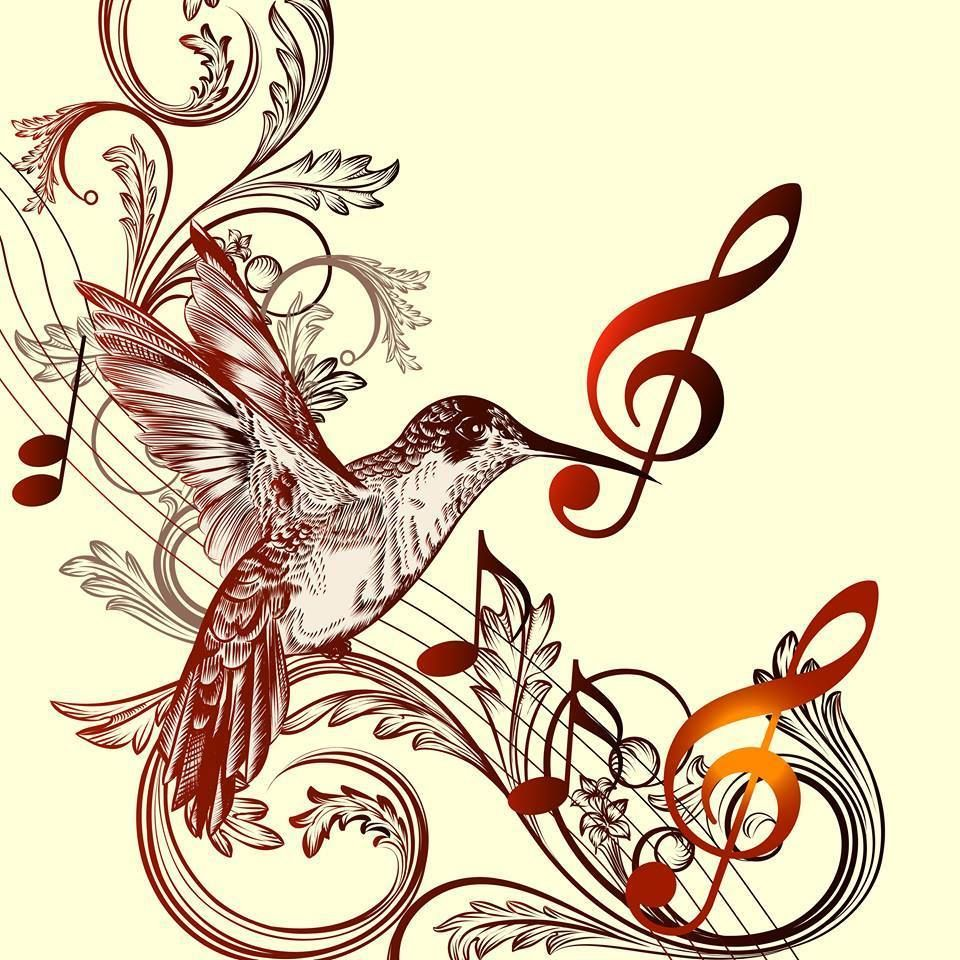 Hummingbirds and music, 2 of my favorite things!! #musicnotes