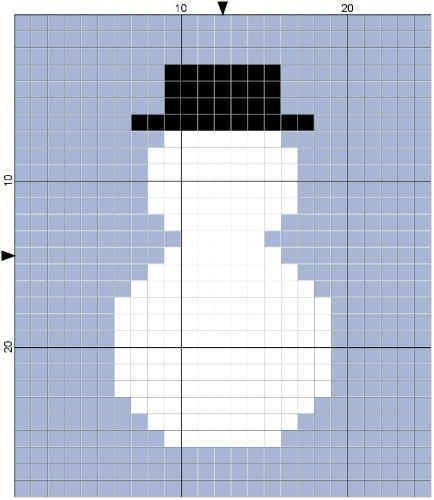 Best Free Crochet » #363 Snowman Block Dishcloth – Maggie Weldon ...