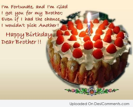 Happy Birthday Wishes To Brother ~ Picture: birthday wishes for your dear brother birthday greetings