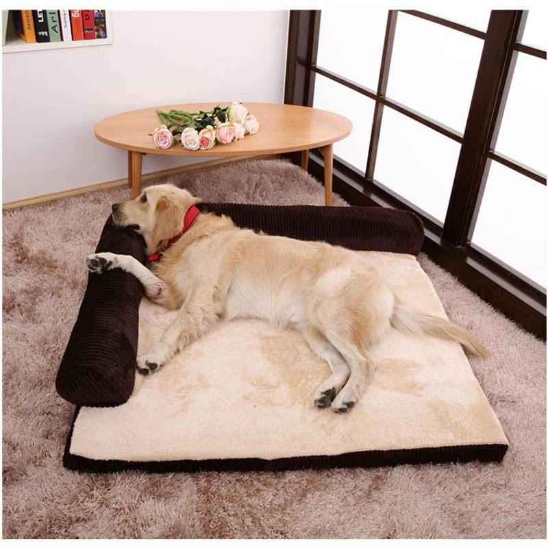 This Lovely Dogbuds Large Dog Bed Dog Sofa Bed Headrest Is On