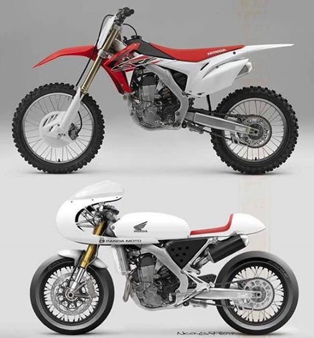 Now This Is A Pretty Cool Cafe Racer From A Honda Crf450