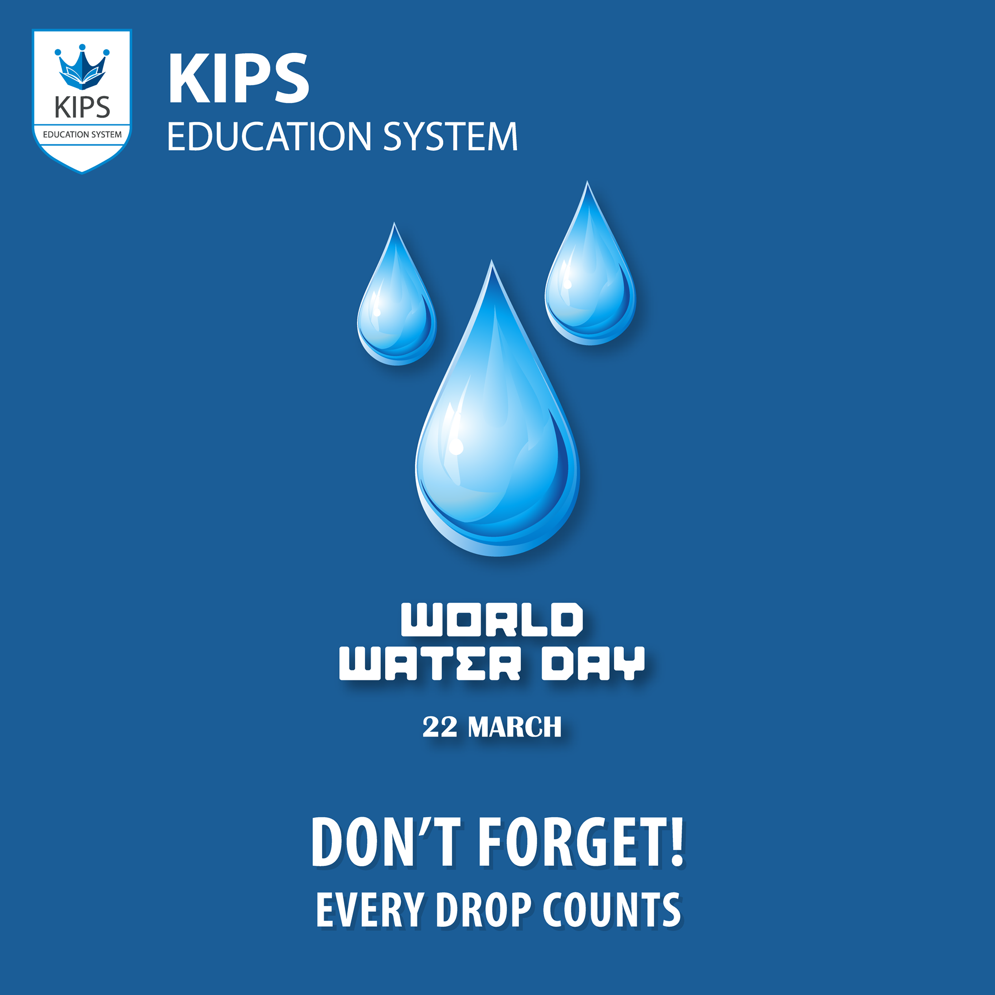 Every drop in the ocean counts  When we conserve water, we conserve