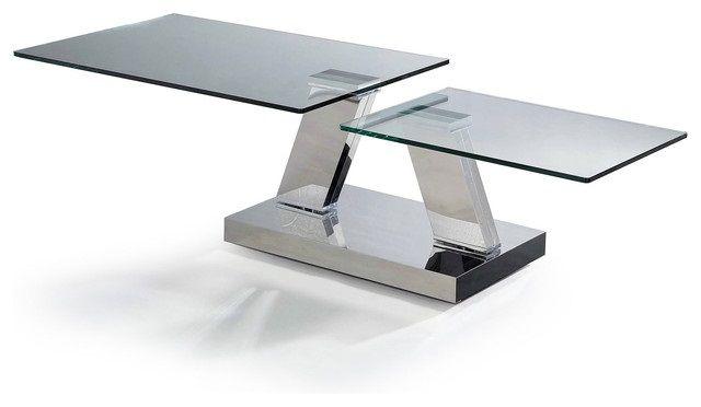 Round Coffee Table Modern Gl