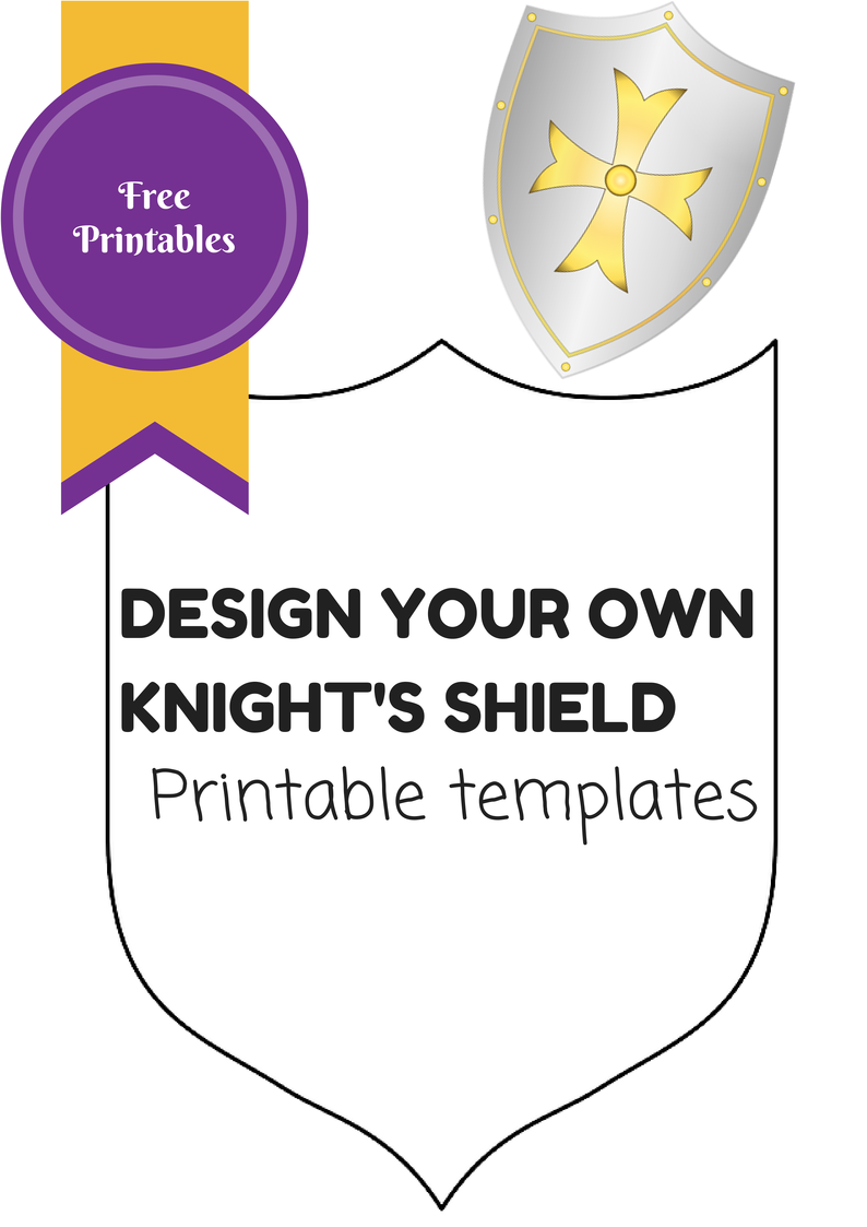 Free Printable Knights Shield Templates Use To Make A Costume Or As Work Sheet For Kids