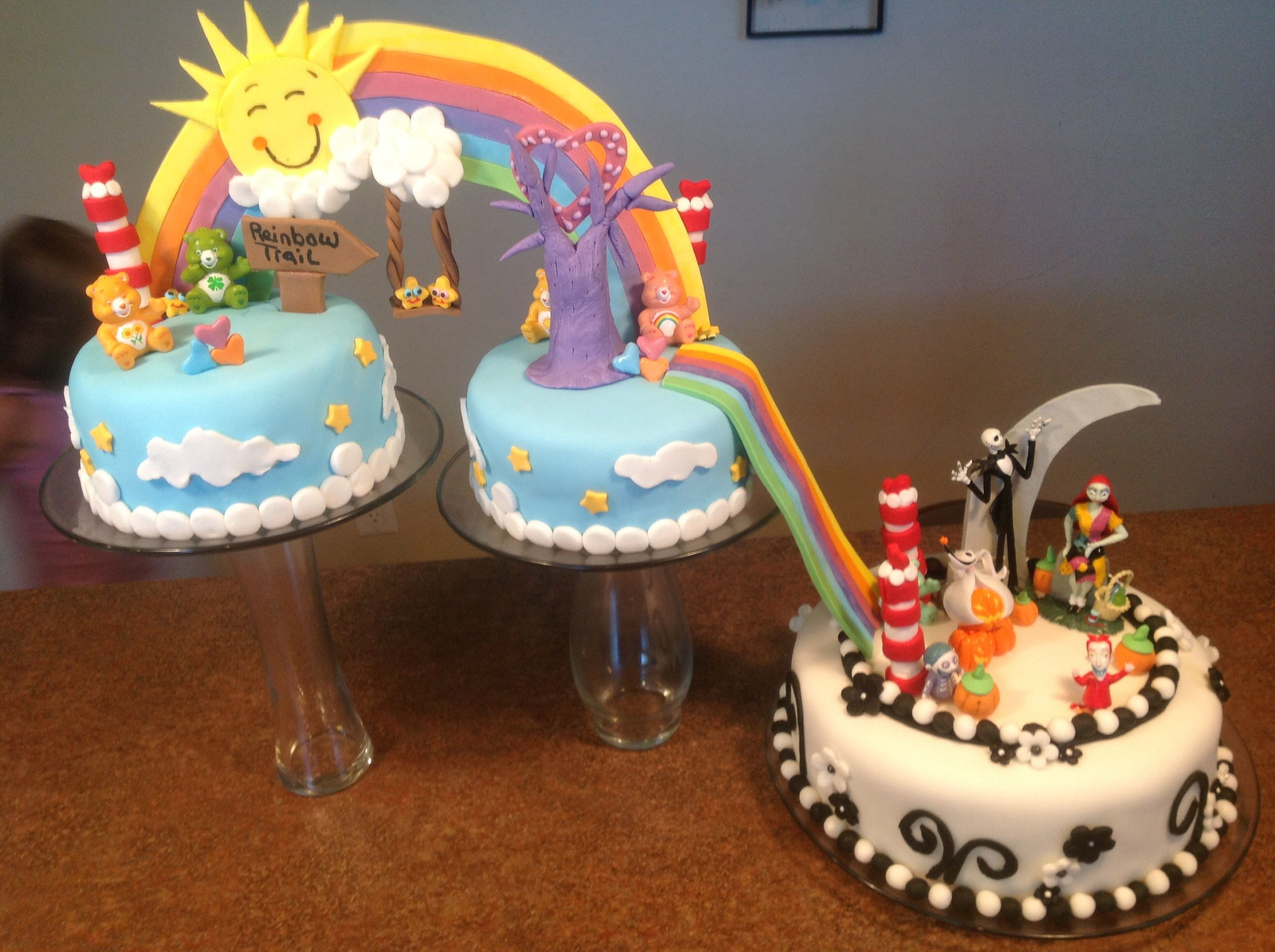 Care Bears Going Into The Night Before Christmas Cake With Images