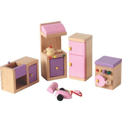 Toy · Wooden Dolls House Kitchen Furniture