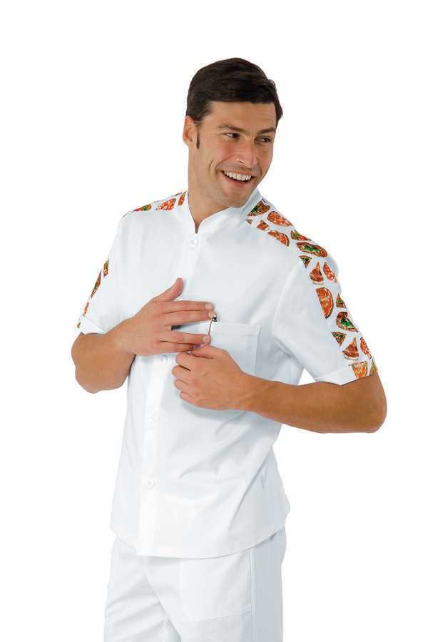 Camicia Isacco coreana manica corta per pizzaiolo shirt Korean pizza made  italy 58aeae25da3a