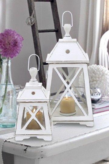 Wood Lanterns ~ Coastal Living