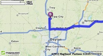 Driving Directions From Creighton Pennsylvania 15030 To Tipp City Ohio Mapquest Tipp City