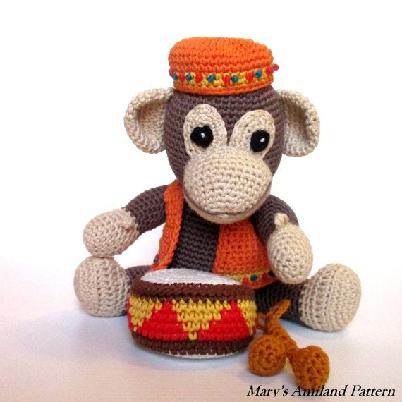 Arthur Monkey The Ami Amigurumi Crochet Pattern von MarysAmiland ...