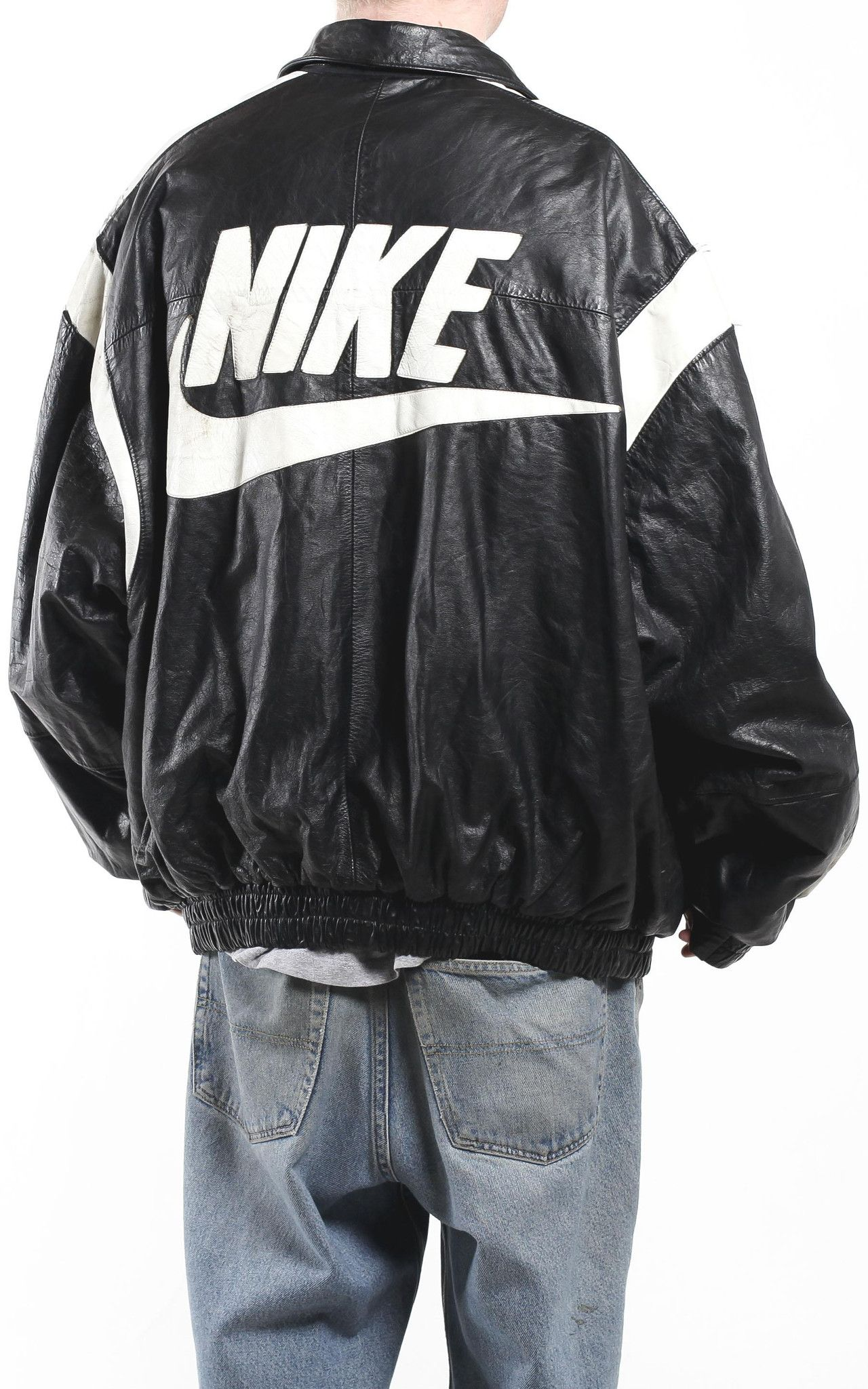 nike leather jacket nasa