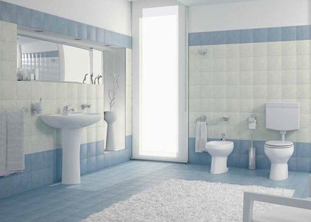 Banos Azul Con Blanco