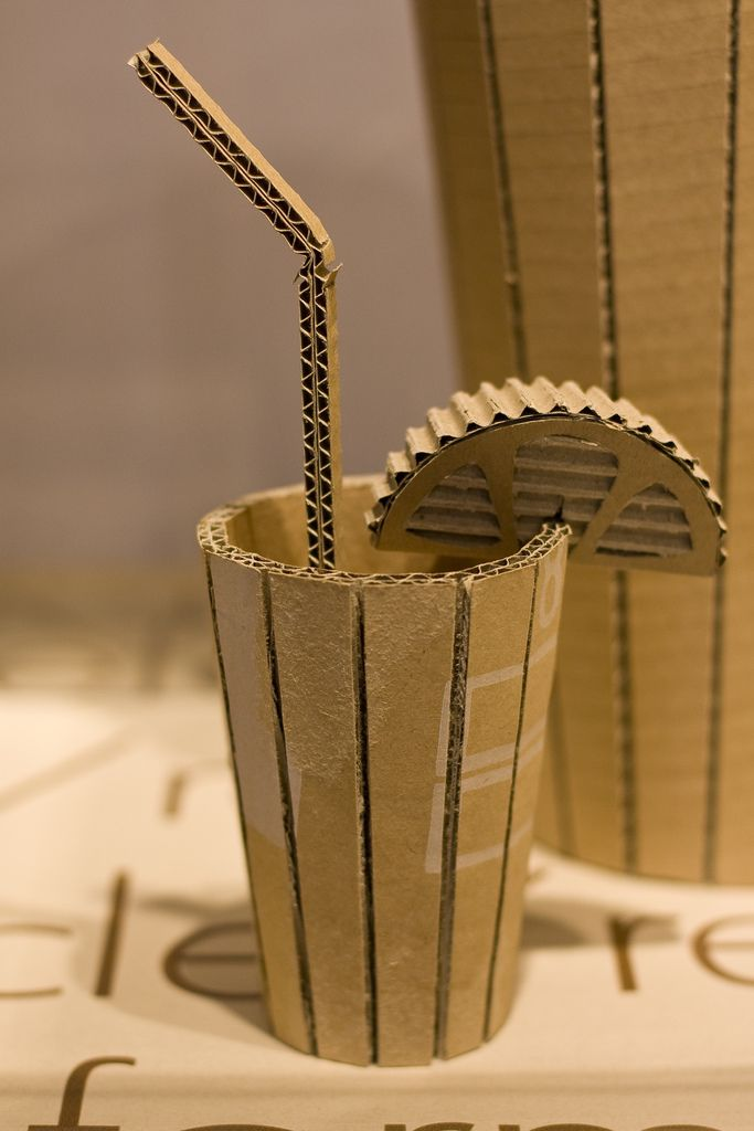 Cardboard Sculpture ..this is a good technique for creating rounded ...