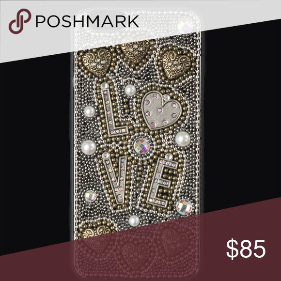HANDMADE IPHONE 6- 6S This cases have been handcrafting with love, and made with stunning and finest rhinestones and crystals to make a truly and unique phone case. To keep this case in optimal condition please avoid high heat, liquids and handle with care.                                                                            Also available in IPHONE 5, IPHONE 6PLUS AND 6 S PLUES, SAMSUNG Accessories Phone Cases