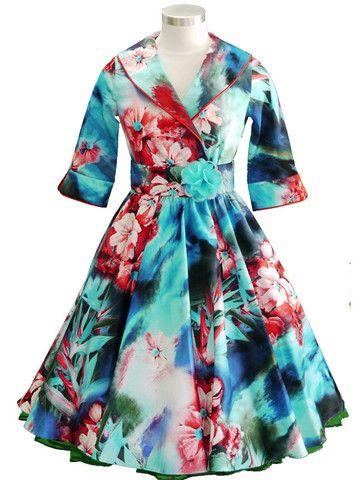 Ava Dress - Turquoise/Raspberry – Mavis and Bob