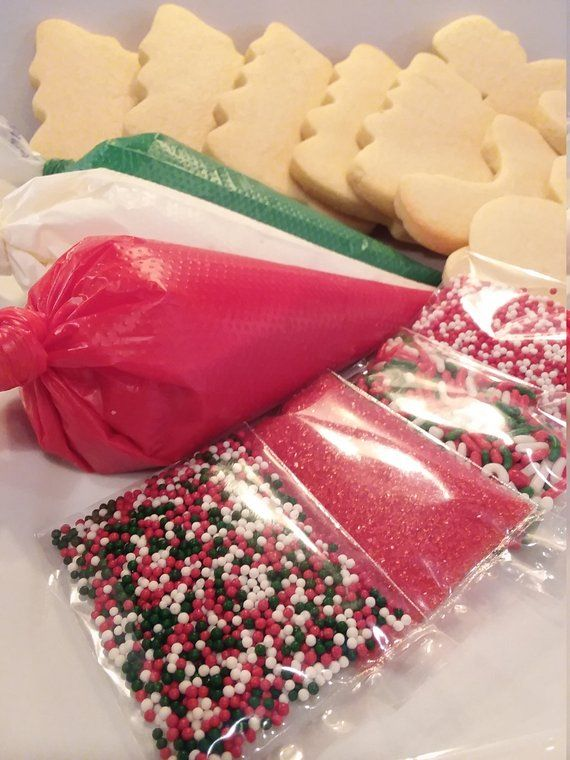 Christmas Cookie Decorating Kit.Customizable Cookie Kit Any Occasion Cookie Decorating Kit