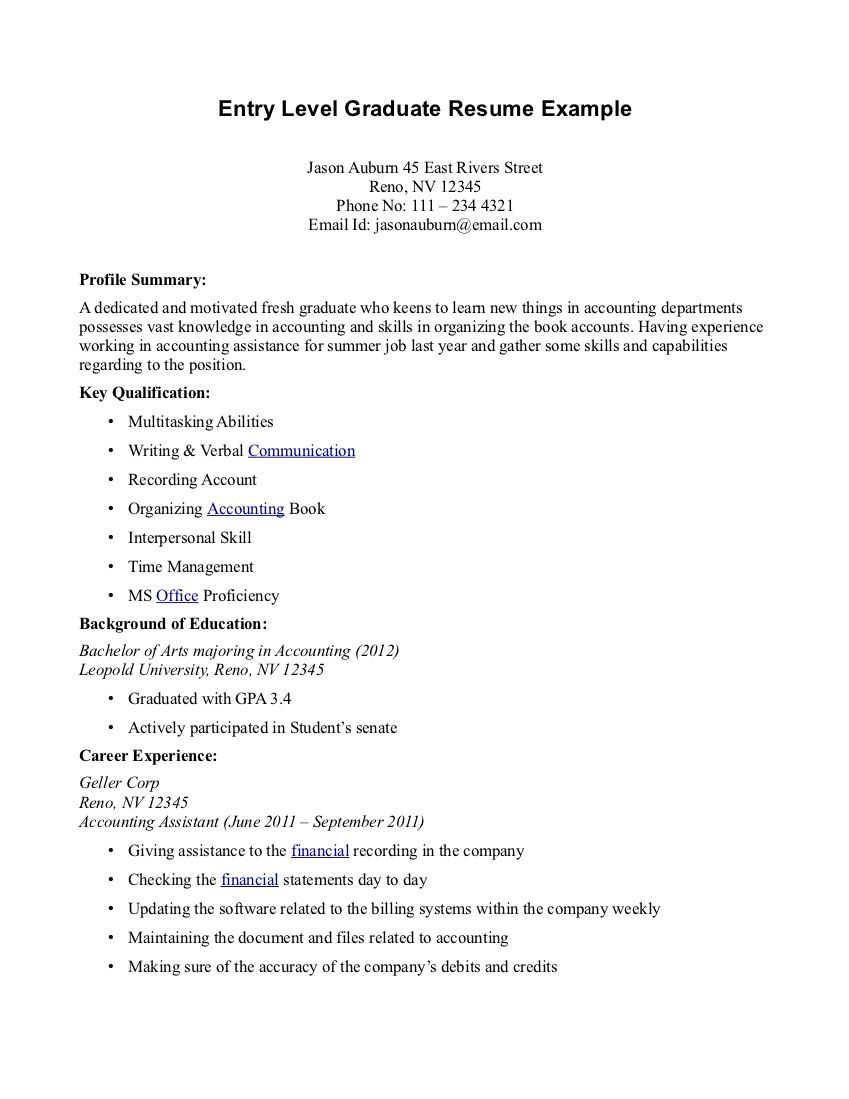 Medical Assistant Resume Graduate o