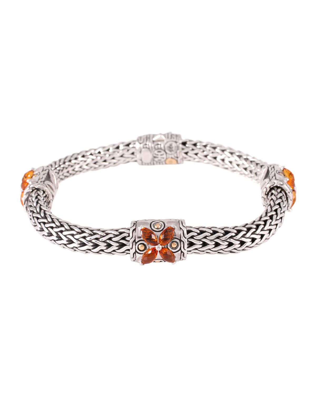 John hardy batu kawung citrine bracelet size medium womenus size