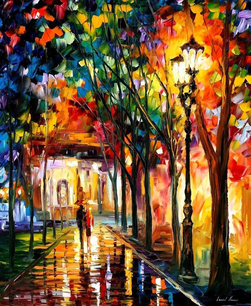 Colors Leonid Afremov I Have One Of His Paintings In My Home