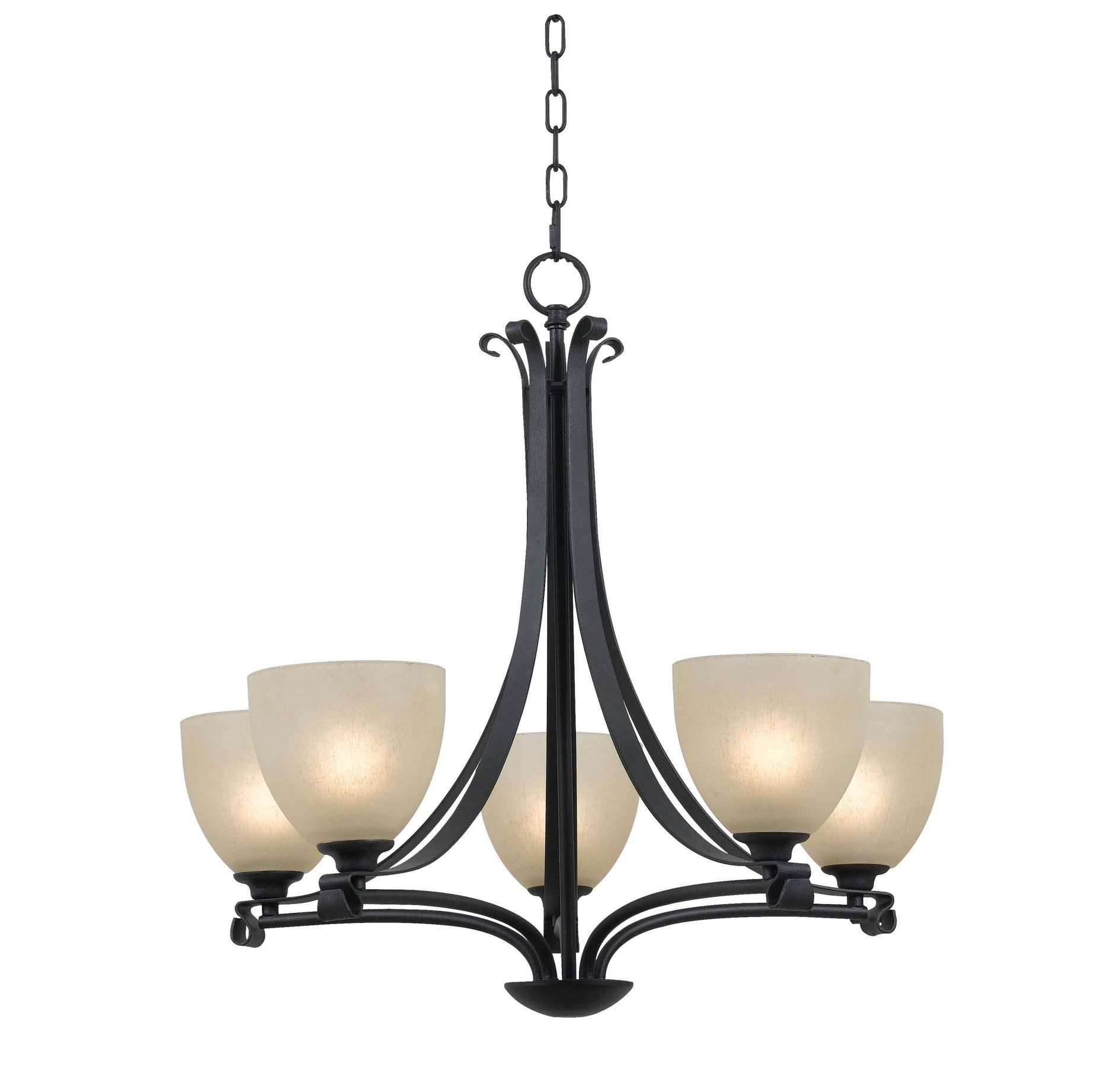 Kenroy Home Willoughby 5 Light Chandelier in Forged Graphite in