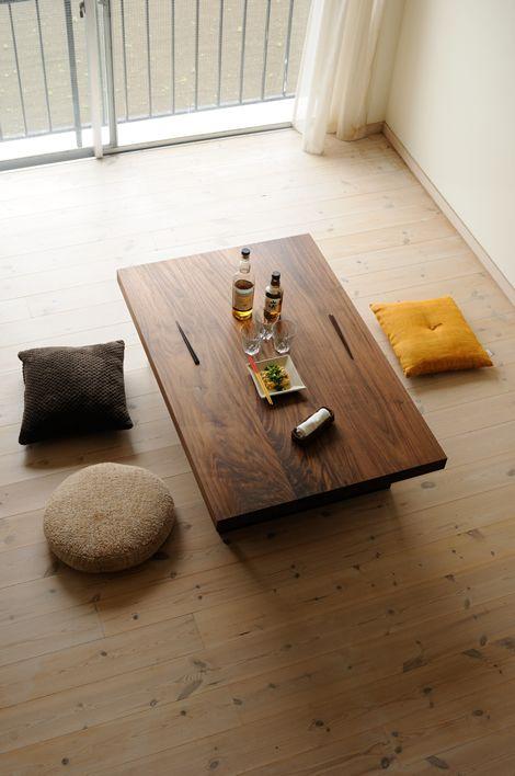 ウォルナット鉄脚ローテーブル / カグオカ