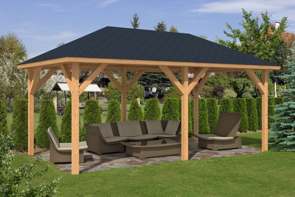 corfu larch gazebo in 2019 1 for ted wooden