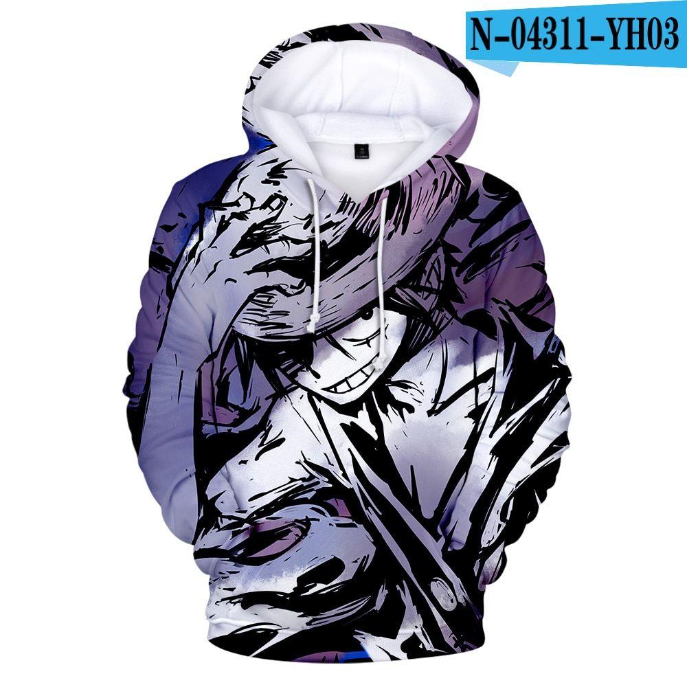 Een stuk stampede 3d hoodie (13 varian) Hoodies, Anime, Blue