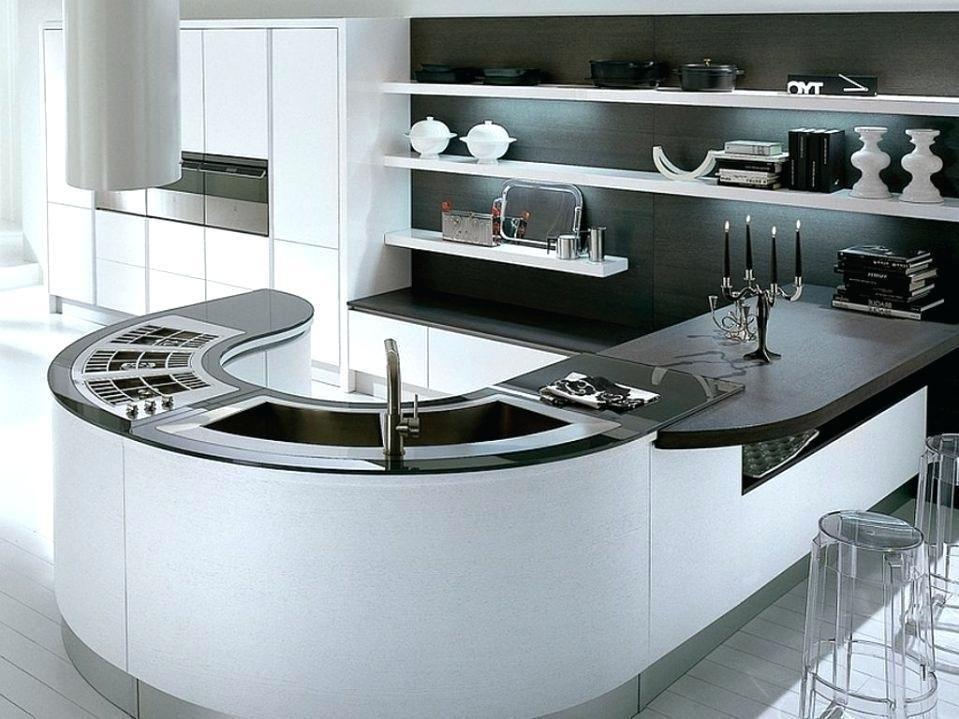 Modern Curved Kitchen Island Curved Kitchen Curved Kitchen