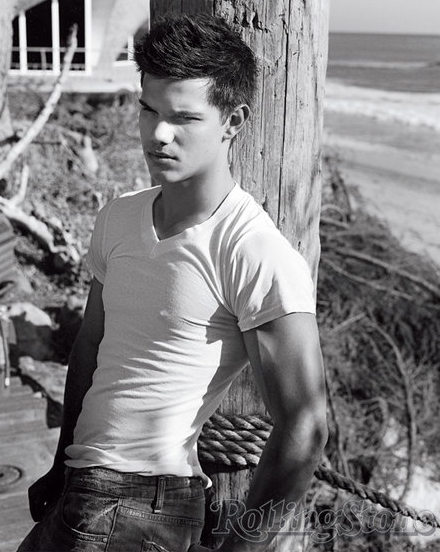 Taylor Lautner (aka Jacob Black) That stupid Bella should have chosen him. Stephanie Meyer this is not over!!!!