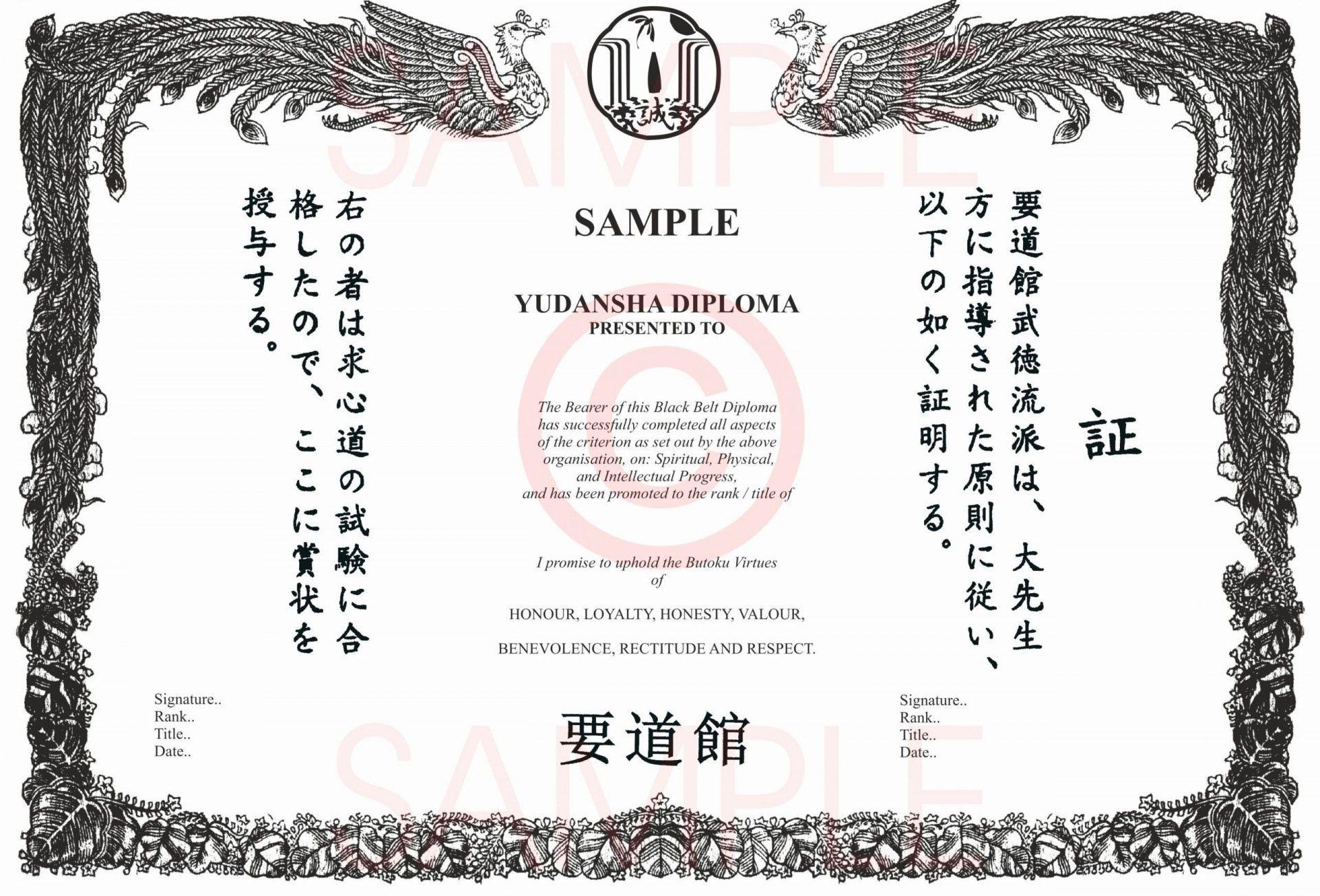 Best Martial Arts Certificate Templates In 2021 Certificate Templates Best Martial Arts Art Certificate Free black belt certificate template