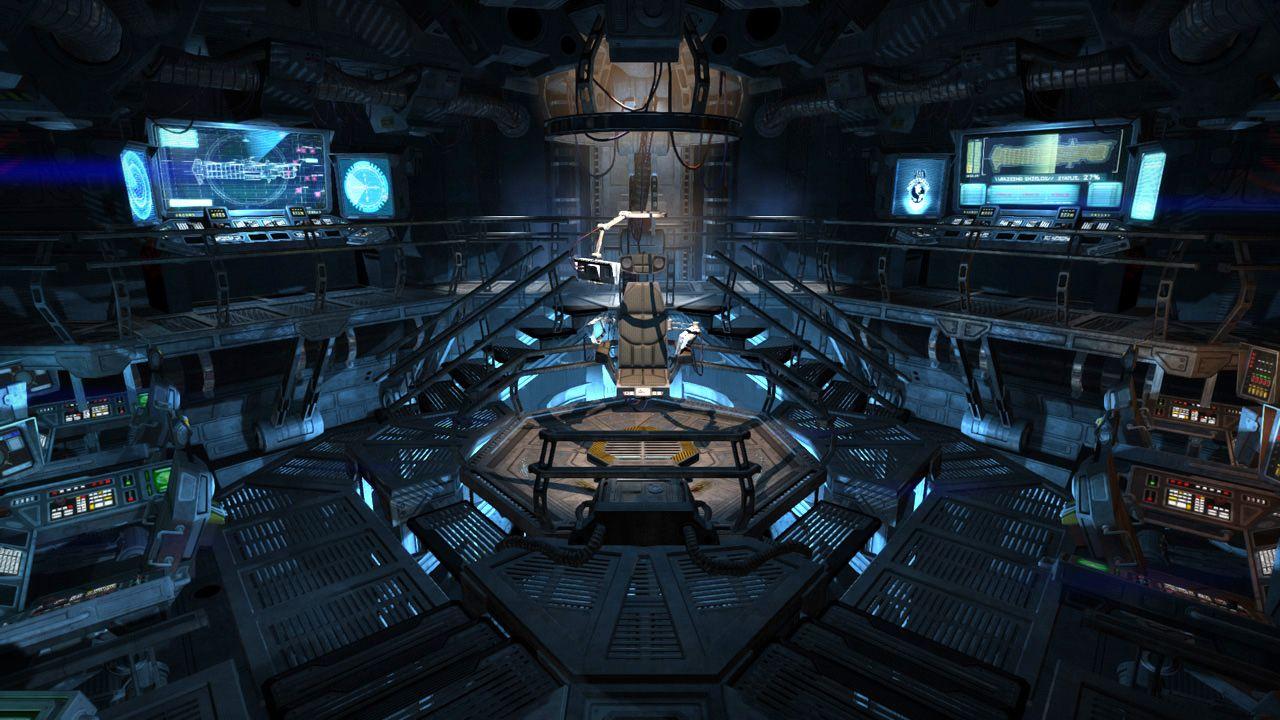 single person bridge sci fi spacecraft - photo #42