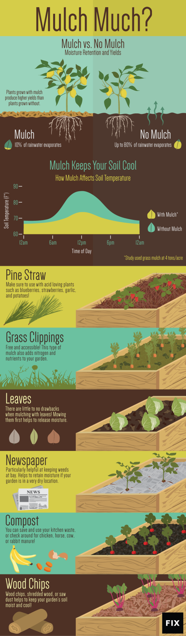 Photo of Leaves, grass clippings, newspaper: Become a mulch master with this chart.