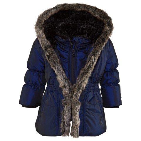 f1a42fd11 Navy Metallic Hooded Coat | 2017 Puffers | Coat, Winter jackets, Navy